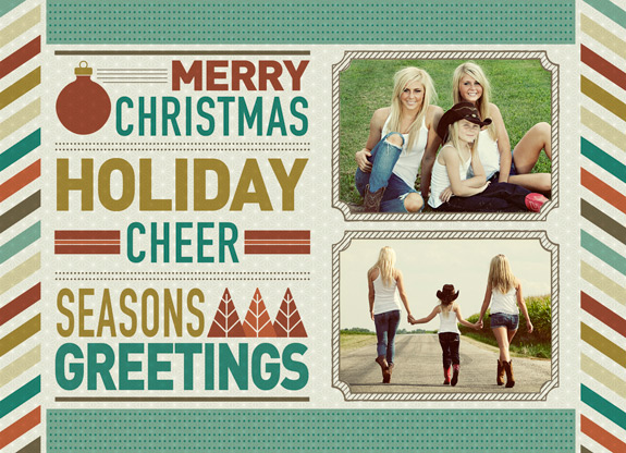 Free Holiday Card Templates from Focused by WHCC WHCC – Holiday Card Template