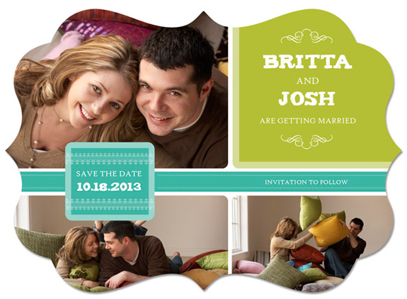5x7 Save the Date Boutique Magnet